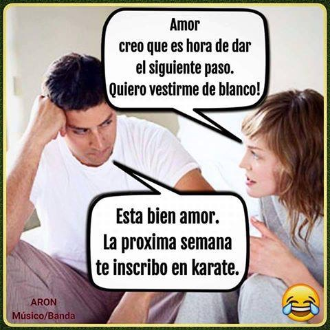 amor te inscribo al karate de blanco