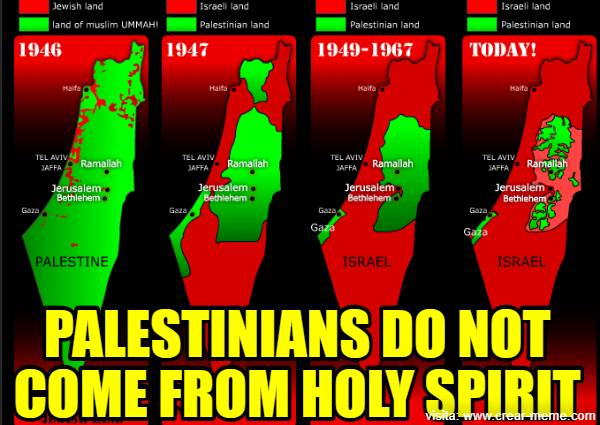 PALESTINIANS DO NOT COME FROM HOLY SPIRIT