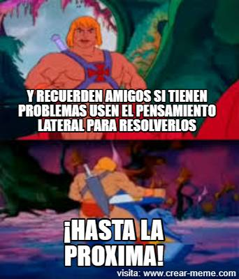 pensamiento lateral he man