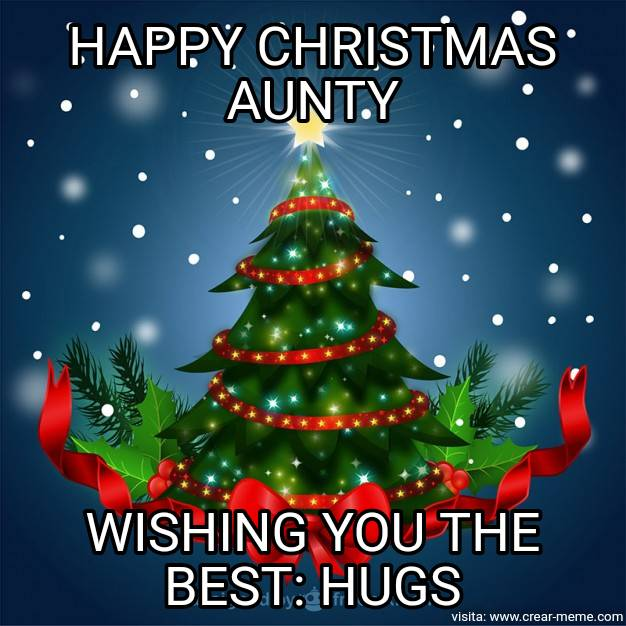 Xmas greetings to aunt